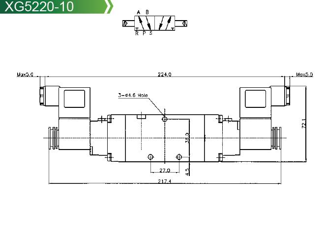 pneumatic valve xg5120 series solenoid valve xg5120 series